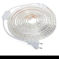 Lampu Led Strip Selang SMD 5050 10M 220v OUTDOOR 10 M Meter DEKORASI - Putih