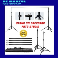 Background Stand Foto Studio - Tiang Backdrop Background - Hanging Rod