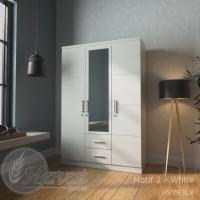 Lemari Pakaian 3 Pintu Minimalis Termurah - Putih