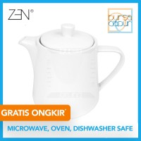 Zen George White Teapot 830 ml (TP-6A) / Teapot Teh / Teko Air