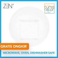 Zen George White Dinner Plate 27 cm (CPA-27) / Piring Makan