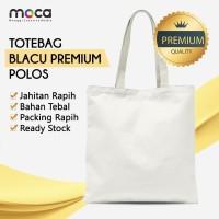 Totebag / Goodiebag Polos 25x30 - Blacu Premium
