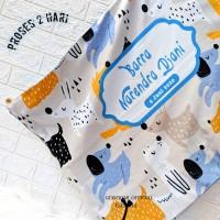Gudekor Selimut Bayi Custom Nama dan Design FREE Tas , Nama dan Kartu