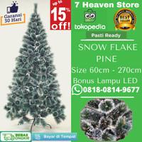 Pohon Natal Salju 1,2 meter 120cm 1.2m 4 feet 4FT Snow Flake Pine
