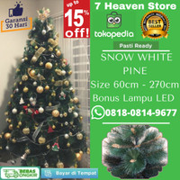 Pohon Natal 2,5 Meter 2.5m 250cm 8 feet 8ft Snow White Pine Tree