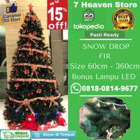 Pohon Natal Premium Salju 90cm 0.9 meter 3 Feet Tipe Snow Drop Fir
