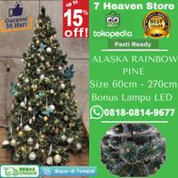 Pohon Natal Premium 1.8 Meter 1.8m 180cm 6 ft 6ft Alaska Rainbow Pine