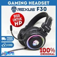 HEADSET GAMING REXUS F30 RGB Headphone Hedset Henset Full Bass Gamers
