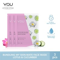My Skin-Mate Face Mask 3 in 1 by You Makeups - Lotus& Cucumber