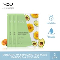 My Skin-Mate Face Mask 3 in 1 by You Makeups - Marigold& Avocado