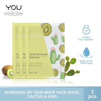 My Skin-Mate Face Mask 3 in 1 by You Makeups - Cactus & kiwi