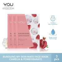 My Skin-Mate Face Mask 3 in 1 by You Makeups - Camellia&Pomegranate