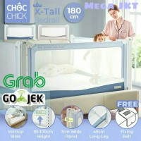 Choc Chick 180cm Extra Tall Bedrail Pagar Pengaman Ranjang Bayi Anak