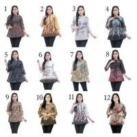 Blouse Batik Kantor Chantika 02 / Batik IFA / Baju Atasan Wanita Blus