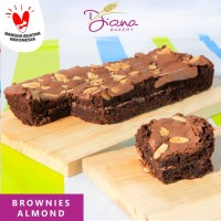 Brownies Almond | cokelat | kue | bolu | cake artis | chocolate
