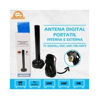 Portable Magnet Antena TV Digital panjang kabel 4.8meter