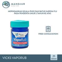 Vicks VapoRub 25 gr - Obat Oles Pereda Batuk dan Pilek