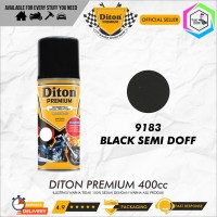 Diton PREMIUM 9183 Black Semi Doff Cat Semprot /Pylox/Samurai/Helm