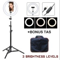 Ring Light 10 inch Tenwish with Light Stand 200cm Ring Light Makeup