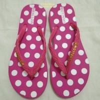 Sandal jepit swallow, sandal karet asli Indonesia ( nice polkadot )