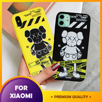 Case Karakter Xiaomi Redmi Note 4X 5A Prime 7 8 Kaws Black Yellow 3D