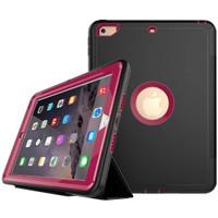 "New iPad 2017 9.7"" Hybrid Heavy Duty Shockproof Smart Flip Case 360"