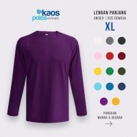 Kaos Polos Lengan Panjang 20s Size XL