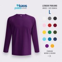 Kaos Polos Lengan Panjang 20s Size L