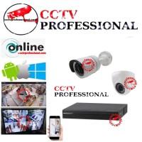 PAKET CCTV 16 CHANNEL 16 CAMERA 3 MEGAPIXEL LENGKAP TINGGAL PASANG
