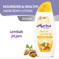 Marina hand body lotion 350 ml nourish healthy almond cia seed