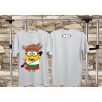 Kaos Distro Minion Abu Muda/T-Shirt Pria Wanita /Kaos Keren