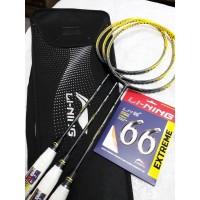 Raket Badminton Lining Calibar 300 3D Bonus Senar dan Cover Original