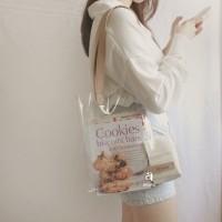 Clear PVC Tote Bag Custom Nama