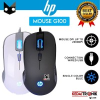 Mouse HP Wired G100 Black Optical Gaming LED Cable Design Ergonomic