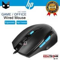 Mouse HP Wired M150 Black Optical Gaming LED Cable Design Ergonomic