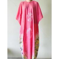 Shibori Night Dress - LEMBUT UNTUK SEHARI HARI - PINK PASTEL