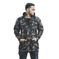 Jaket Army DC Parka - Motif Loreng Abu XXL