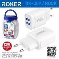 Batok Charger Roker Rock 2USB 2.4A (NON PACKING)