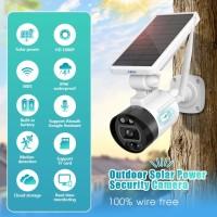 Solar IP Camera CCTV WIFI Tenaga Matahari KERUI Sensor Gerak Alexa