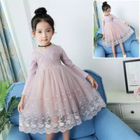 DRESS ANAK PEREMPUAN RENDA GAUN ANAK LACE IMPORT DRESS BROKAT ANAK