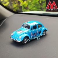 Pajangan Miniatur Diecast Mainan Mobil VW Beetle Kodok Klasik Stitch