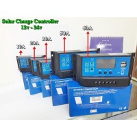 Solar Charge Controller PWM Panel Tenaga Surya 10A-60A / 12v - 24v - 20A