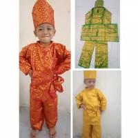 Baju Melayu Cowok/Baju Tari Bahan Songket