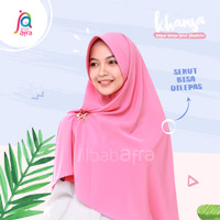 Jilbab Afra Asli Arfa Khansa Khimar Serut Hijab Instant Dusty Pink