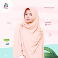Khansa Khimar Serut Jilbab Afra Arfa Khanza Hijab Instant Light Peach