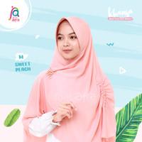 Khansa Khimar Serut Jilbab Afra Arfa Khanza Hijab Instant Sweet Peach