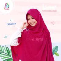 Jilbab Afra Asli Arfa Khansa Daily Khimar Serut Hijab Instant Fuschia