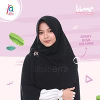 Khansa Khimar Serut Jilbab Afra Arfa Khanza Hijab Instant Real Black