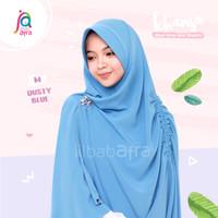 Khansa Khimar Serut Jilbab Afra Arfa Khanza Hijab Instant Dusty Blue