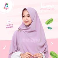 Khansa Khimar Serut Jilbab Afra Arfa Khanza Hijab Instant Dusty Purple